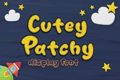Cutey Patchy - Display Font Product Image 1