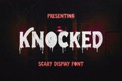 Knocked Font Product Image 1