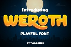 Weroth Display Playful Font Product Image 1