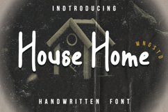 House Home - a sweet and friendly display font Product Image 1
