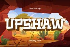 Upshaw Font Product Image 1