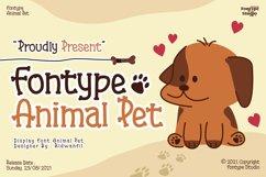 Fontype Animal Pet - Display Font Product Image 1