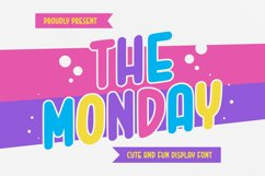 The Monday Font Product Image 1