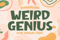 Weird Genius - Cute Display Font Product Image 1