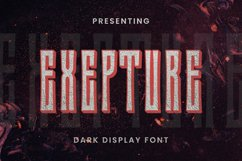 Exepture Font Product Image 1