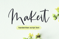 Makeit Font Product Image 1