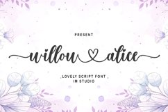 willow alice - A Lovely Font Product Image 1