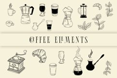 Coffee elements svg Product Image 1
