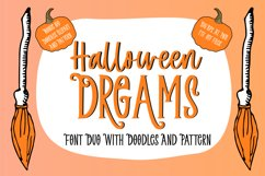 Halloween Dreams   Font Duo With Doodles, Clipart & Pattern Product Image 1