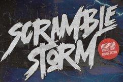 Scramble Storm - Bold handmade Rough Brush Font Product Image 1