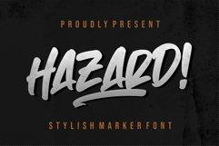 Hazard! STYLISH MARKER FONT Product Image 1
