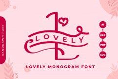 Monogram Lovely Font Product Image 1