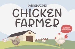 Chicken Farmer - Cute Display Font Product Image 1