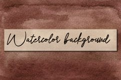 Hand drawn brown Watercolor Background Product Image 1