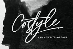 Costyle - A Handriwtten Font Product Image 1