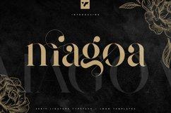 Magoa - Serif Ligature Typeface Product Image 1