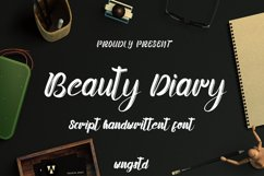 Beauty Diary - Casual Handwritten font Product Image 1