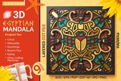 Egyptian Mandala 3D Layered SVG Cut File Product Image 1