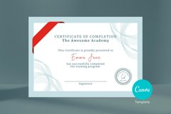Classic Certificate of Completion Editable Canva Template. Product Image 1
