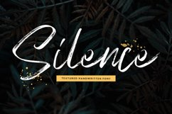 SIlence - Textured Font Product Image 1
