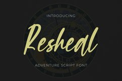 Resheal Font Product Image 1