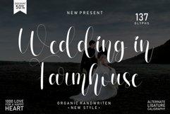 Wedding In Farmhouse   handwritten font Product Image 1