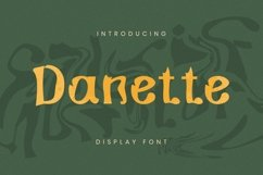 Danette Font Product Image 1