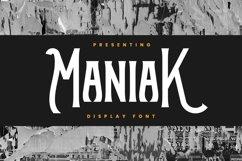 Maniak Font Product Image 1