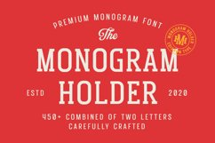 Monogram Holder - Display Font Product Image 1