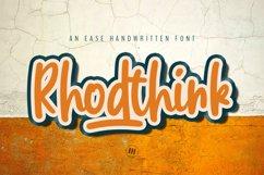 Rhodthink - An Ease Handwritten Font Product Image 1