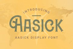 Aasick Font Product Image 1