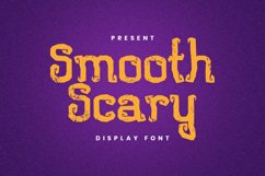 Smooth Scary Font Product Image 1