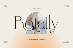 Rotally - Modern Serif Typeface Product Image 1