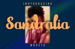 Sandralia - a cute and quirky handwritten font Product Image 1