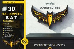 Halloween Bat 3D Layered SVG Cut File Product Image 1
