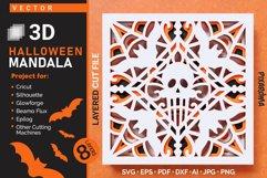 Halloween Mandala 3D Layered SVG Cut File Product Image 1