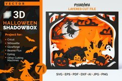 Halloween Shadowbox 3D Layered SVG Cut File Product Image 1