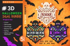 Halloween Signs 3D Layered SVG Cut Files Bundle Product Image 1