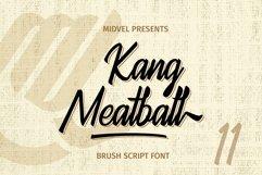 Kang Meatball - Brush Script Font Product Image 1