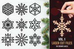 Laser Cut Files Vol.1 - 50 Snowflake Ornaments Product Image 1