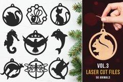 Laser Cut Files Vol.3 - 50 Animal Ornaments Bundle Product Image 1