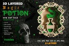 Magic Potion Wall Art 3D Layered SVG Cut File Product Image 1