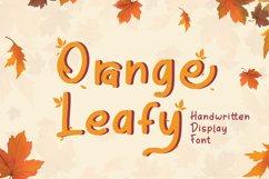 Orange Leafy - Autumn Display Font Product Image 1