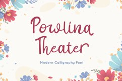 Powlina Theater - Calligraphy Font Product Image 1