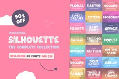 The Silhouette Font Bundle - Complete Collection Product Image 1