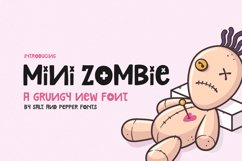 Mini Zombie Font Product Image 1