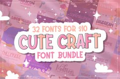 The Cute Craft Font Bundle Product Image 1