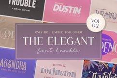 The Elegant Font Bundle - Vol 02 Product Image 1