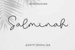 Salminah - Script Monoline Product Image 1