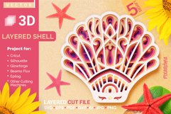 Shell 3D Layered SVG Cut File Product Image 1